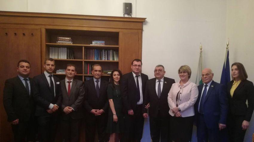 Срещата с делегацияата на Милли Меджлиса на Азербайджан, която гостува на българското Народно събрание