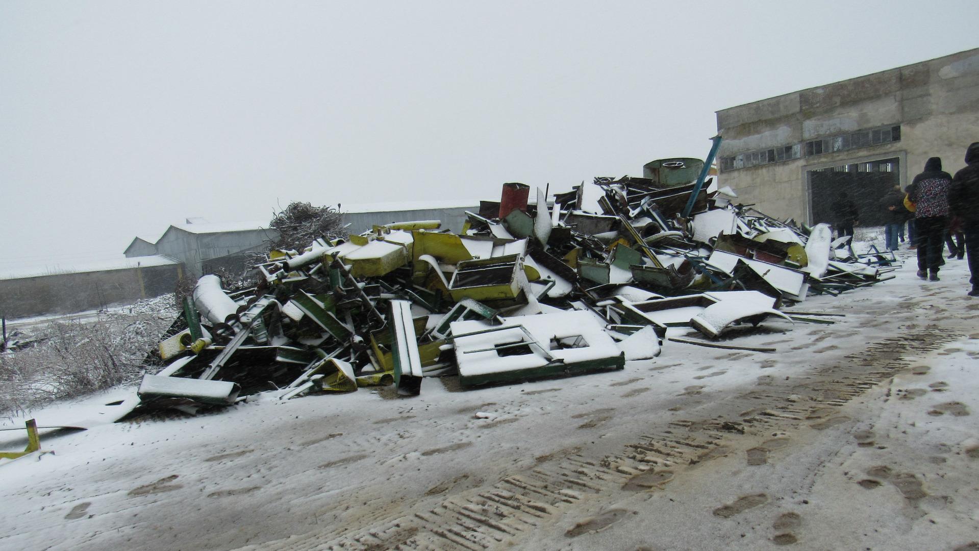 Разчистване на терен в бившия Фуражен завод в Дулово от