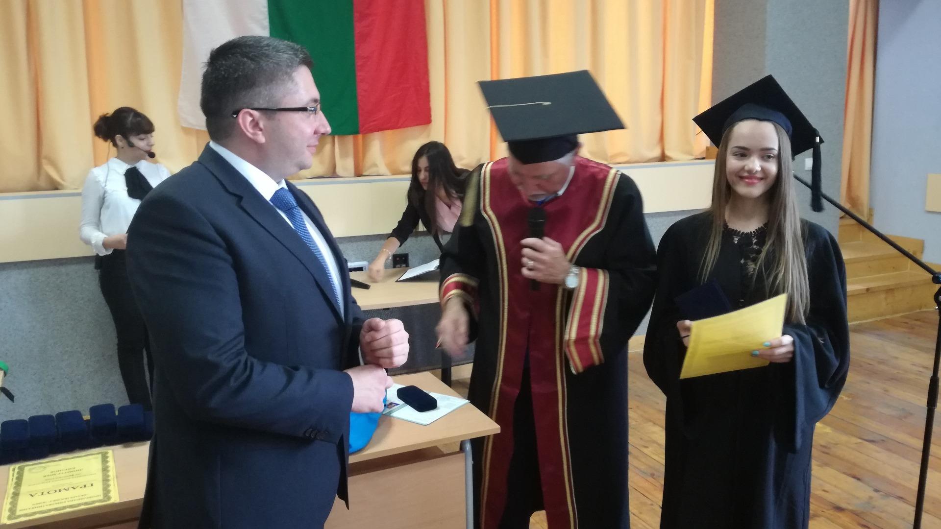 Първенецът на випуска Радина Караиванова