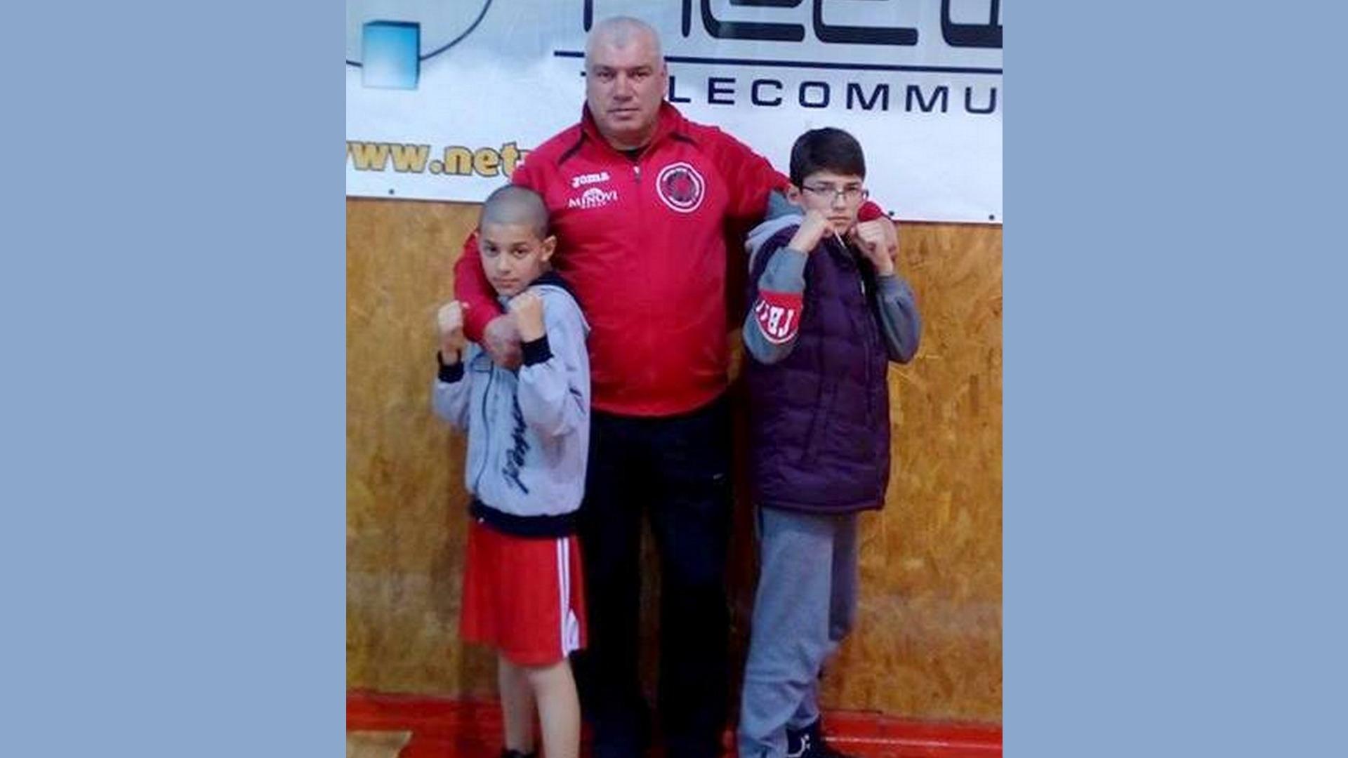 Мартин и Кристиян със Свилен Русинов- единственият българин, побеждавал някой от братята Кличко