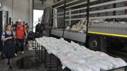 """Досега най-голямата пратка хероин, залавяна в България бе близо 200 кг в турски камион на ГКПП """"Капитан Андреево"""" през май 2018 г."""