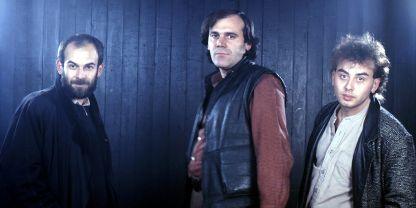 Кристиян Бояджиев, Георги Денков и Асен Драгнев (отляво надясно), 1987 г.