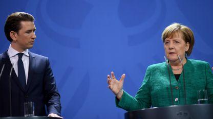 Себастиан Курц и Ангела Меркел