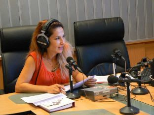 Ива Дойчинова в студиото на предаването.