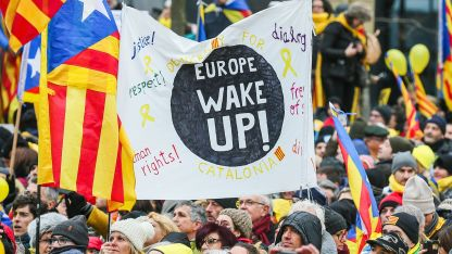 Близо 50 000 каталунци протестираха в Брюксел