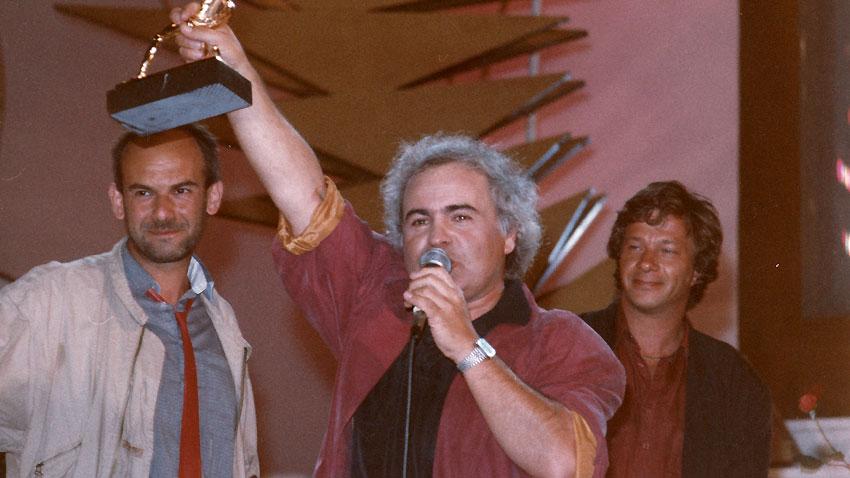 Кристиян Бояджиев, Вили Кавалджиев и Александър Петров, 1992 г. (отляво надясно)