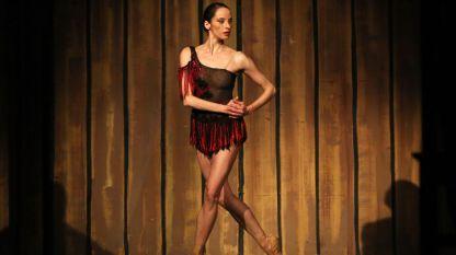 Диляна Никифорова по време на представление.