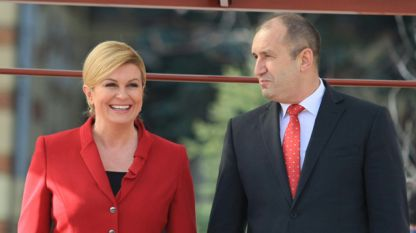 Kolinda Grabar-Kitarović und Rumen Radew