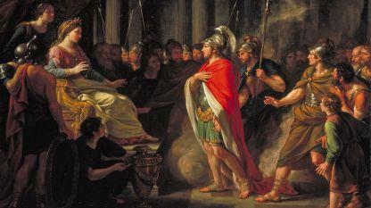 """Фрагмент от картината """"Срещата на Дидона и Еней"""", Натаниъл Денс-Холанд."""