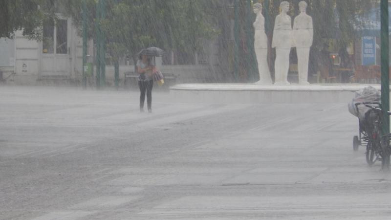 Проливен дъжд се изсипа днес над Видин.