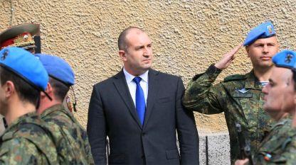 """Румен Радев направи коментара в рамките на посещението си на 68-а бригада """"Специални сили"""