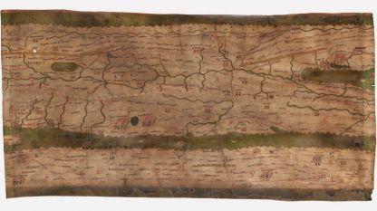 Римска пътна карта-пътеводител (итинерарий), съхранява се в Австрийската национална библиотека.