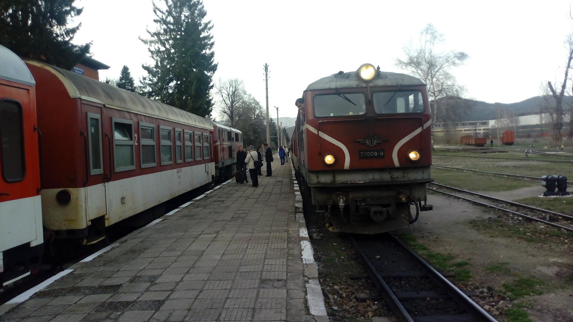 Изчакване на гарата във Велинград