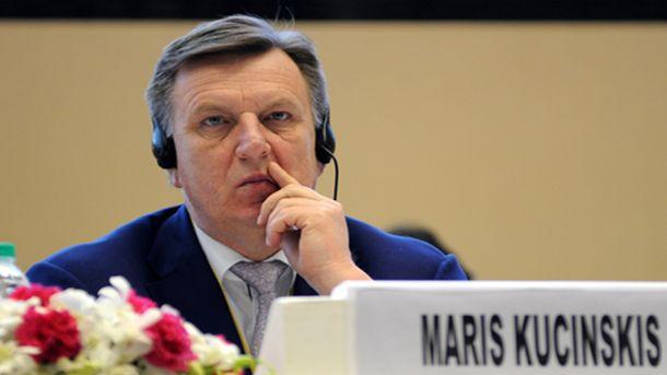 Латвийският министър - председател Марис Кучинскис заяви във вторник, че