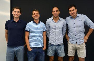 Създателите на приложението: Тодор (28), Христо (28), Стоян (28) и Иван (27)