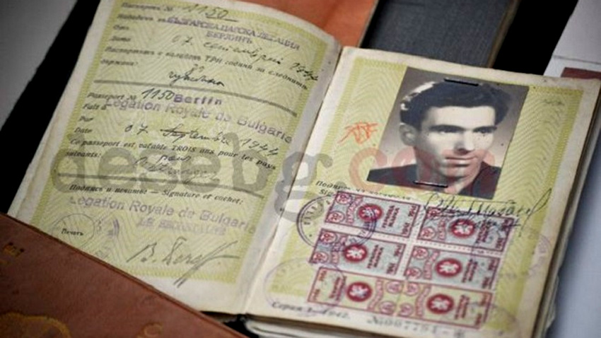 The Bulgarian passport of Prof. Viden Tabakov