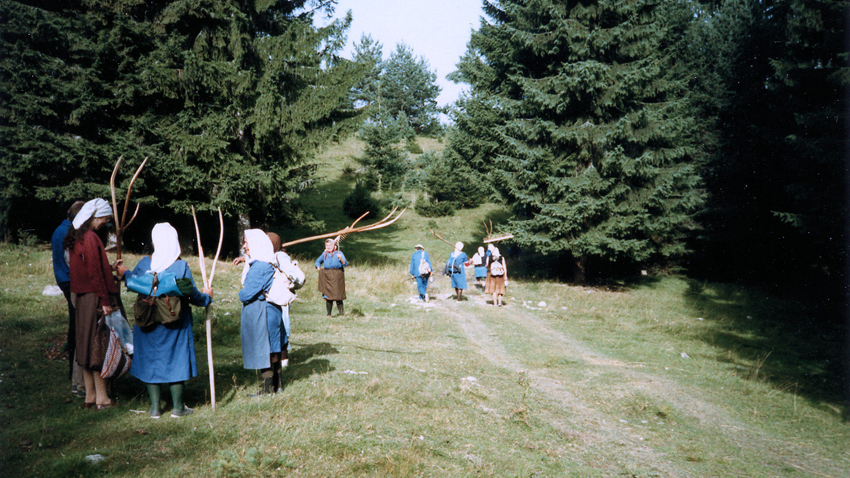 Haying in the village of Govedartsi, 1986