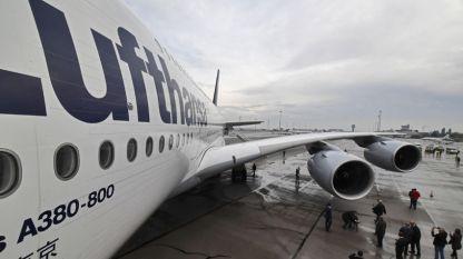 Еърбъс А 380 на летище София.