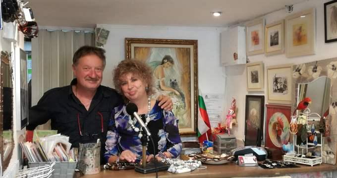 художниците и галеристи Милен Петков и Лина Стефанова