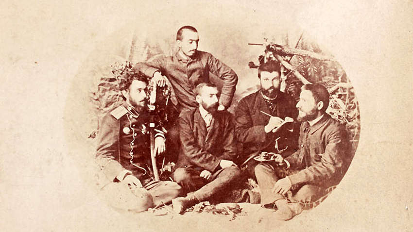 Bulgaria's Secret Central Revolutionary Committee, 1885; (left to right) Kosta Panitsa, Ivan Stoyanovich, Zaharii Stoyanov, Ivan Andonov and Dimitar Rizov