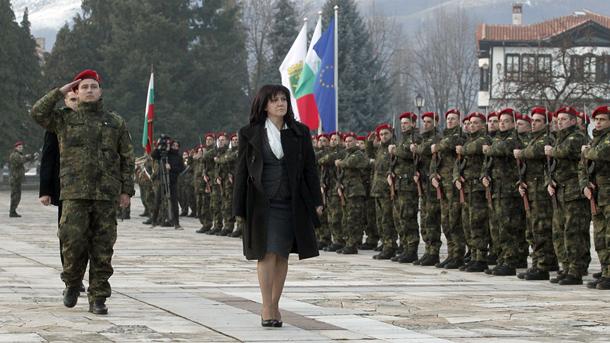 Цвета Караянчева на тържественото честване на годишнината от рождението на Ботев в Калофер