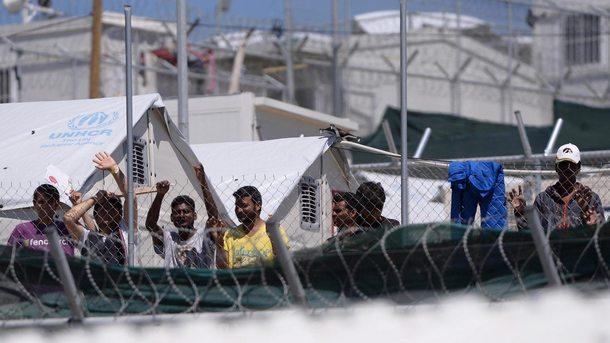 Бежански лагер на остров Лесбос