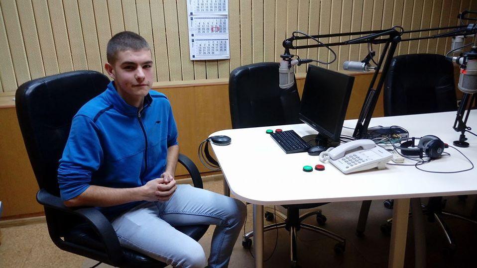 Давид Будев в студиото на Радио Стара Загора
