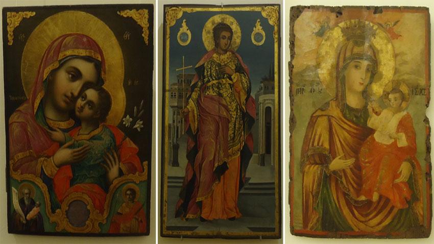 Stanislaw Dospewski – Die Barmherzige Gottesmutter, Zahari Zograf – Hl. Tryphon und Petar Dimitrow – Gottesmutter mit Jesuskind