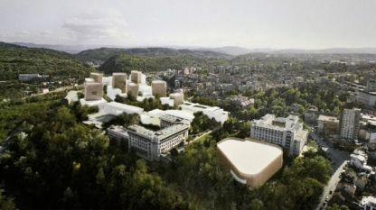 Идейният проект на италианския архитект Клаудио Нарди, класиран на първо място, за развитието на новия градски център на Велико Търново в Старото военно училище