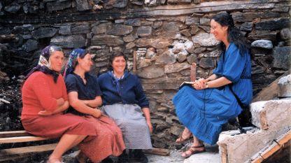 Петра, Злата и Стоя вместе с Мартой Форсайт (слева направо), 1988 г.