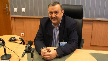 Проф. д-р Тодор Кантарджиев в студиото на БНР