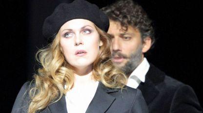 Кристине Ополайс и Йонас Кауфман в сцена от операта