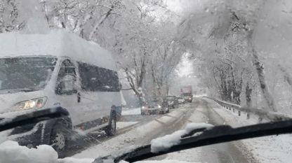 Път Варна - Добрич; зимна обстановка