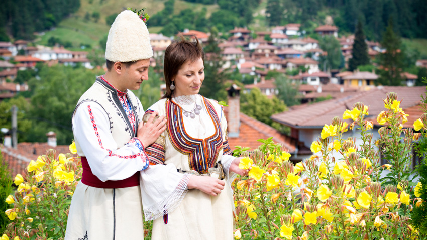 Traditional bulgarian wedding