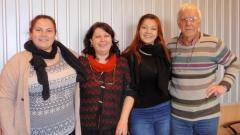 На снимката (отляво надясно): Виолета Въртовска, Албена Безовска, Анна-Мария Въртовска и Генчо Въртовски в студиото на предаването.
