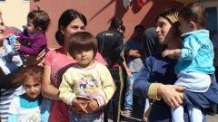 Бежанци от центъра за бежанци в Пъстрогор