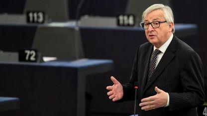 Шефът на ЕК Жан-Клод Юнкер говори пред Европарламента в Страсбург за перспективите за членство в ЕС на Западните Балкани.