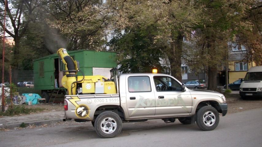 Видин, обработка срещу гъсеници