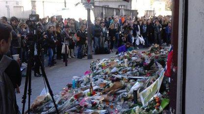Едно от местата на атентатите в Париж