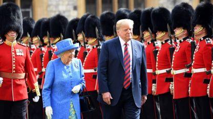 Тръмп посети за първи път Великобритания като президент на САЩ през юли 2018 година