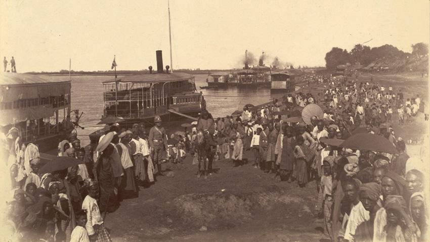 Пристигането на британците в Мандалай на 28 ноември 1885 г., след третата англо-бриманска война, която бележи началото на британското управление в Бирма.