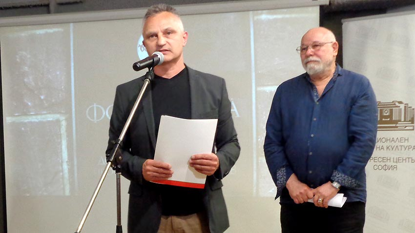 Zachary Karabashliev and jury chairman Vladimir Zarev at the award ceremony.