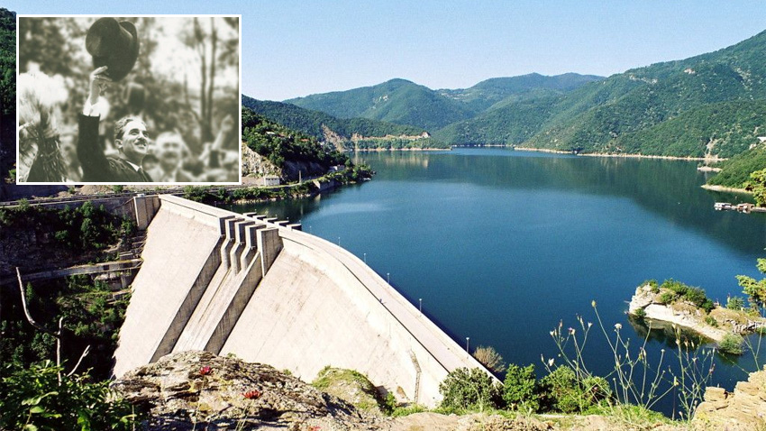 The Iskar Dam (Sofia Mayor Ivan Ivanovin the small photo)