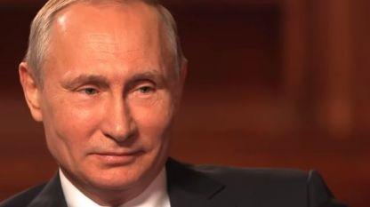 Кадър от новия документален филм за Владимир Путин.