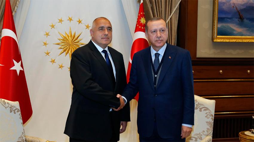 Премијер Бојко Борисов и председник Турске Реџеп Ердоган на сусрету у Анкари