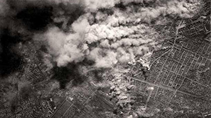 Бомбардировки Софии 30 марта 1944г. - фото снято с американского бомбардировщика
