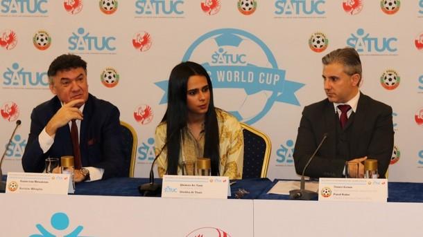 Принцесата на Катар Шейкха Ал Тани бе посрещната от Борислав Михайлов и Павел Колев, зам. изпълнителен директор на БФС