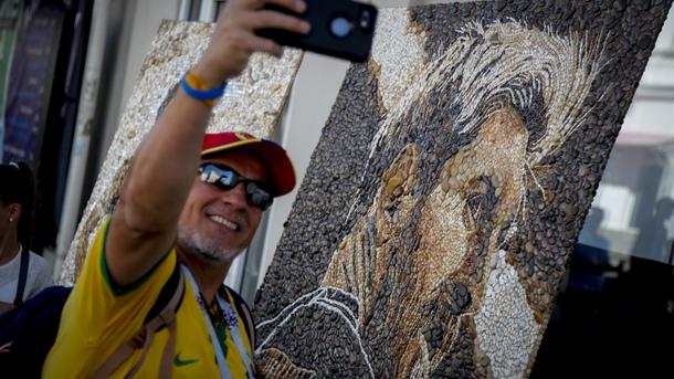 Лионел Меси бе изобразен и на картина