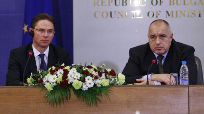 Από την συνέντευξη Τύπου του επιτρόπου Γιούρκι Κατάινεν και του πρωθυπουργού Μπόικο Μπορίσοφ