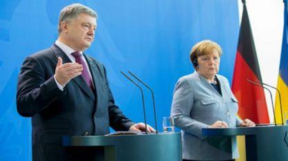 Пресконференция в Берлин на Петро Порошенко и на Ангела Меркел